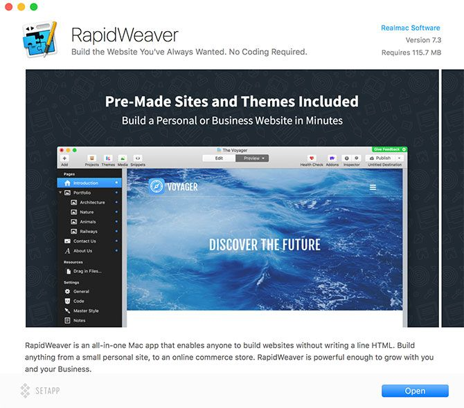 Setapp Offers 65 Premium Mac Apps for One Low Price setapp rapidweaver
