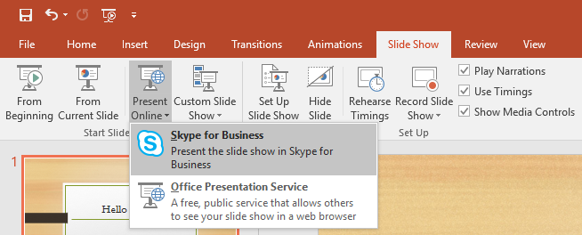 Skype Business Powerpoint