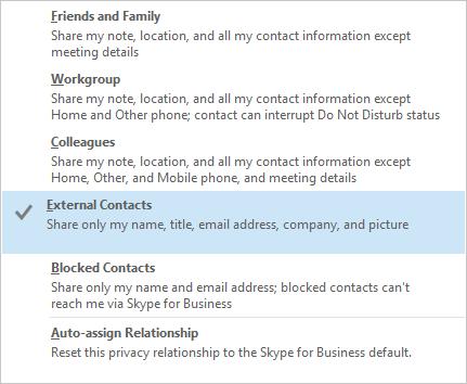 Skype Business Relationship
