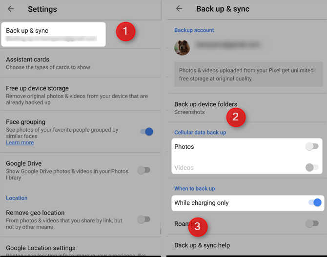 7 Free Google Services That Cost You Battery Life and Privacy turn off auto sync google photos2