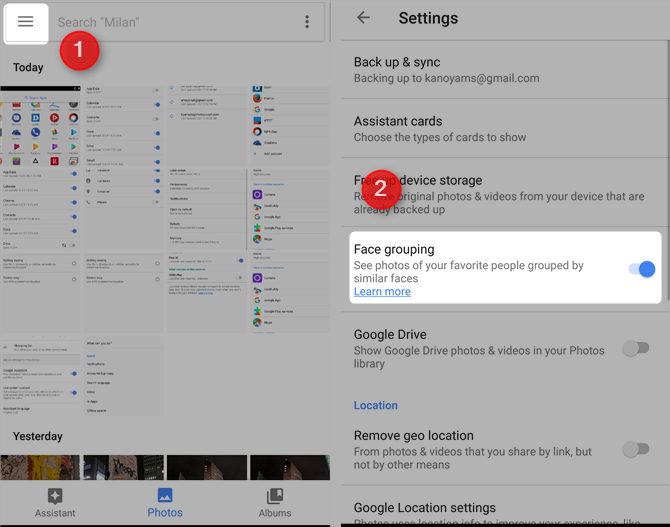 7 Free Google Services That Cost You Battery Life and Privacy turn off facial recognition google photos