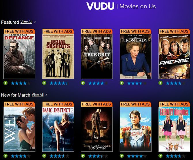 The Best Sites to Watch TV on Your Computer Over the Internet vudu2