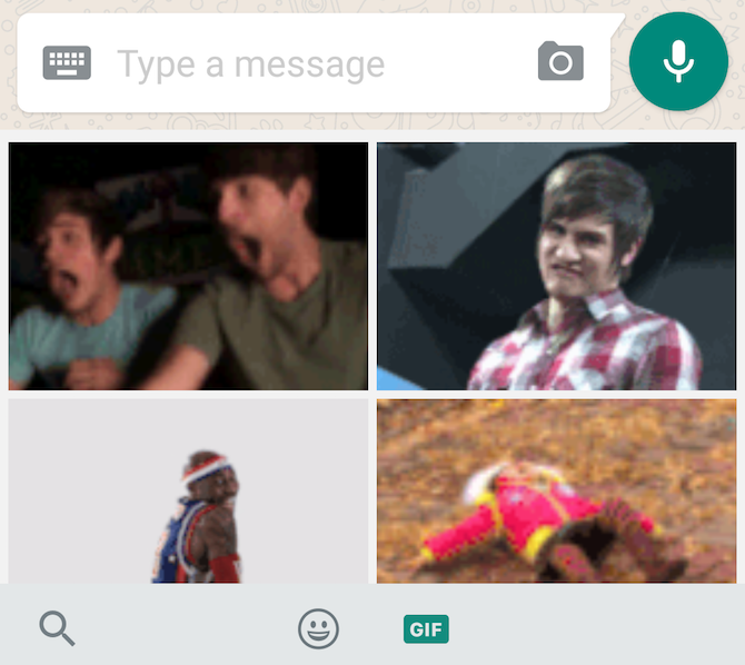 New WhatsApp feature: GIF search