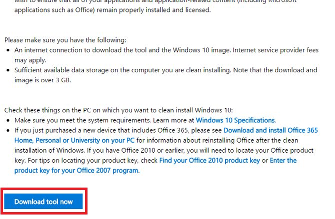 windows 10 download tool