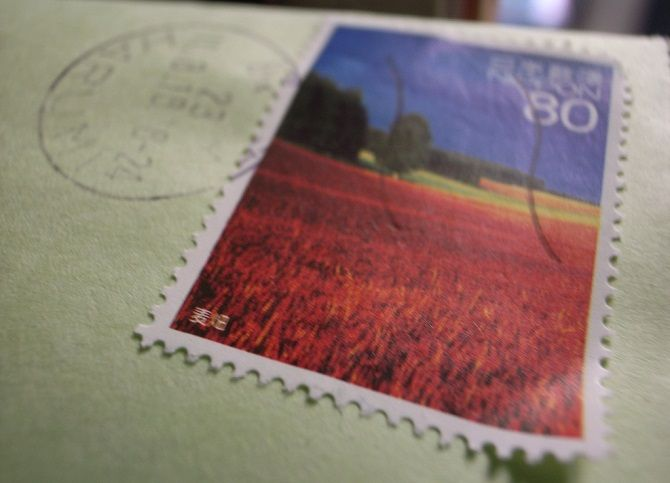 postage close-up