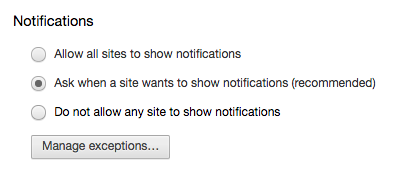 How to Block Per-Site and Per-App Notifications in Chrome Chrome Notifications Options