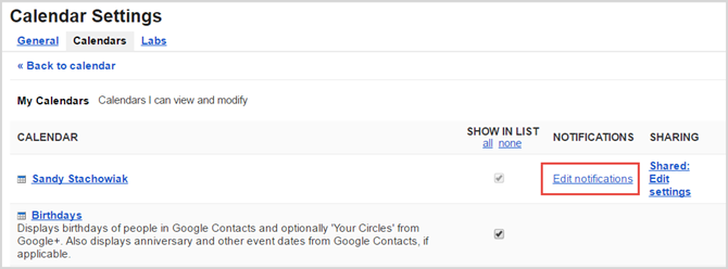 google calendar edit notify web