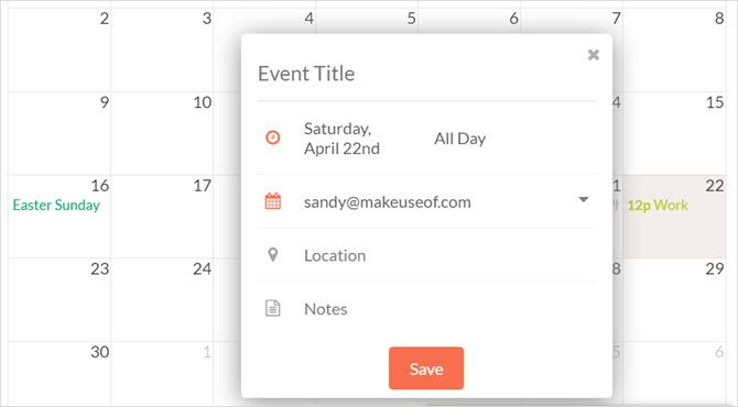 handle for gmail create event