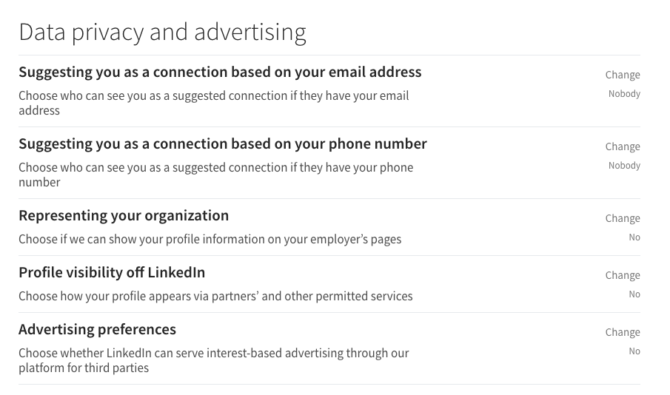 linkedin data privacy