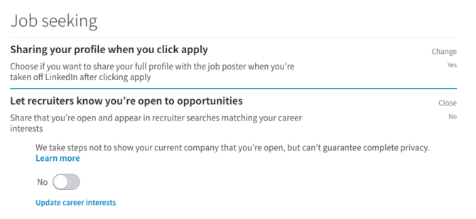 linkedin job seeking