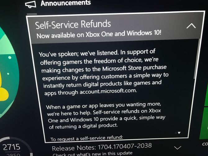 Microsoft Unveils Steam-like Refund System For Xbox One Microsoft Service Refund Digital Download