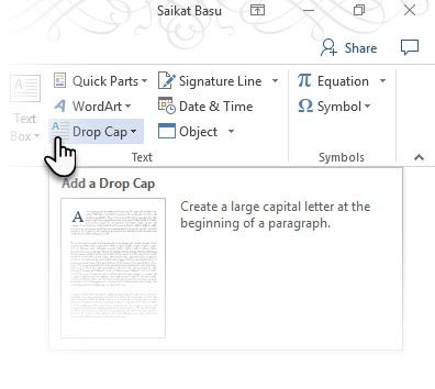 How to Use Drop Caps to Enhance Your Text in Microsoft Word