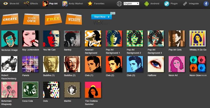 chrome pop art studio online