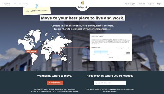 Thinking of Moving? Discover Your Ideal City Based on Work and Lifestyle Teleport