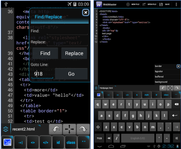 Yes, You Can Code on the Go: 7 of the Best HTML Editors for Android WebMaster HTML Editor Lite 607x500