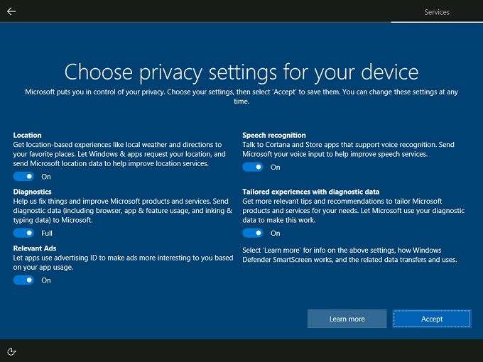 windows 10 creators privacy