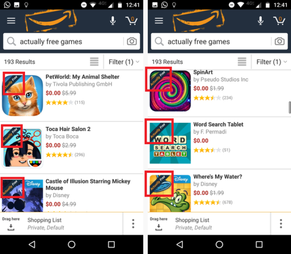 Google Play vs. Amazon Appstore: Which Is Better? actually free amazon appstore 571x500