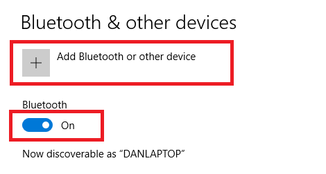 add bluetooth on windows 10