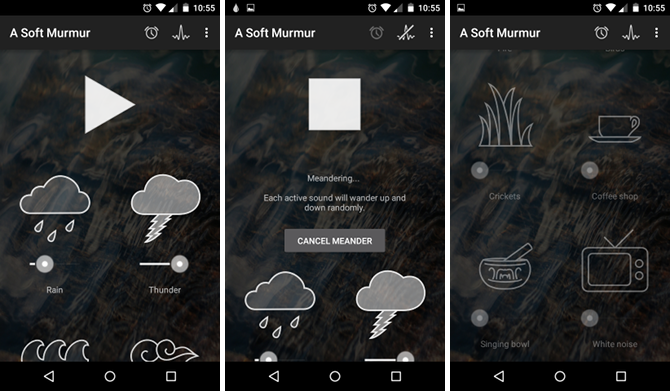 10 Android Apps That'll Help You Fall Asleep Faster android app soft murmur