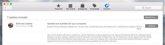 look for Mac App Store Updates when mac running slow
