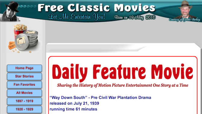 free classic movies from jimbo berkey