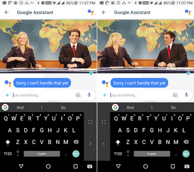 gboard one handed mode