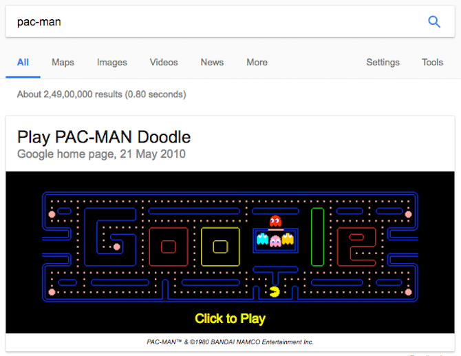 7 Quick Games You Can Play On Google Search google games doodle pac man
