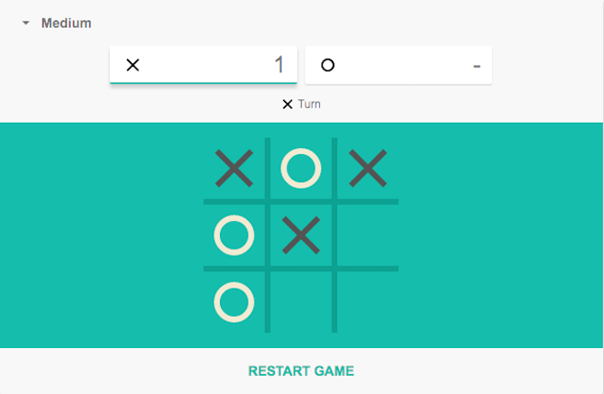Play Tic Tac Toe in google search