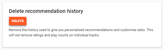 google play music delete recommendations