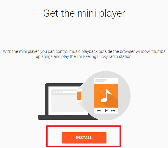google play music mini player install