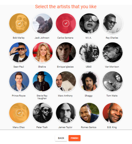 google play music recommendations artists