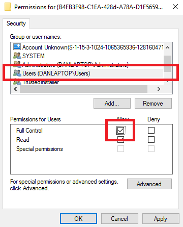 homegroup registry permission control windows