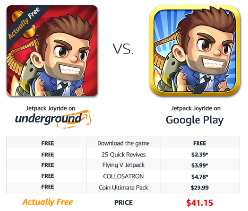 Google Play vs. Amazon Appstore: Which Is Better? jetpack joyride amazon