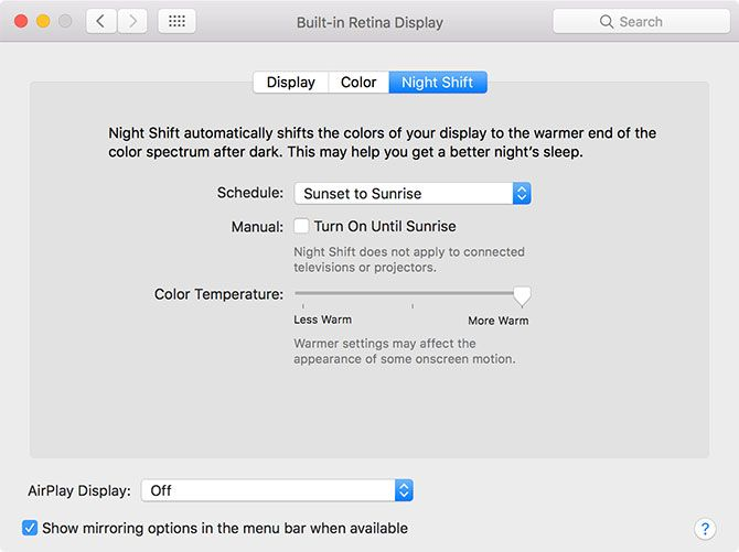 The Best Mac Apps mac night shift options 1