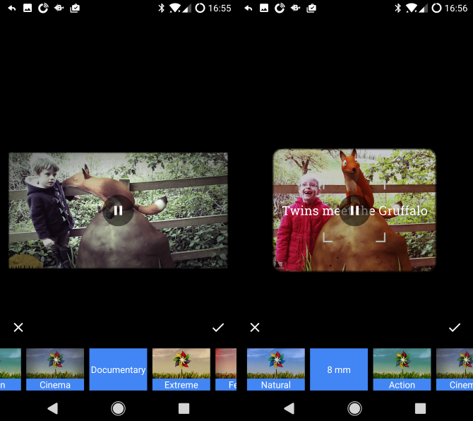 google photos android styles
