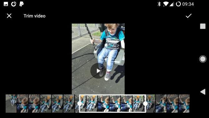 google photos android trim