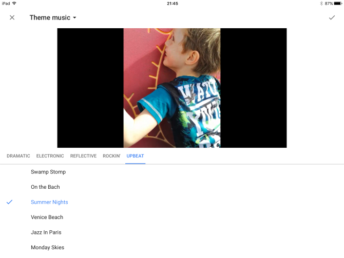 google photos ios music