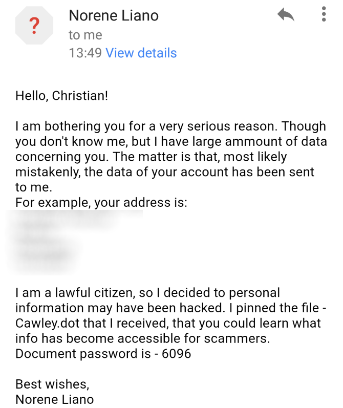 "Don't Be Fooled By This New ""Helpful"" Email Scam muo new email scam msg"