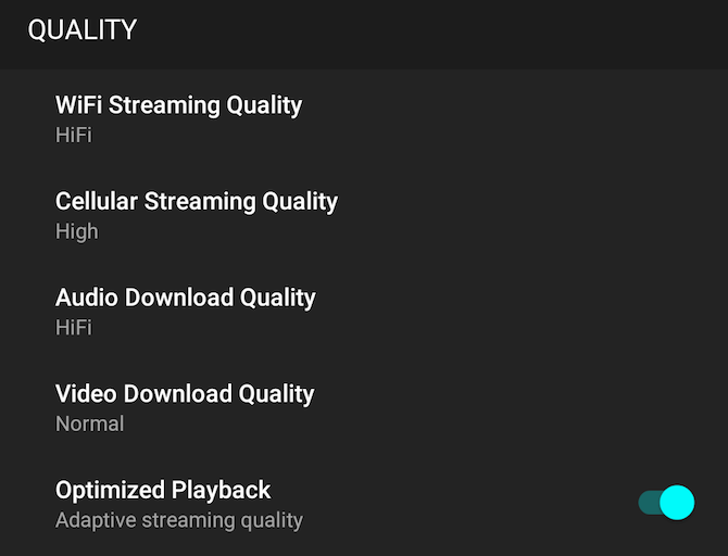 music streaming quality tidal