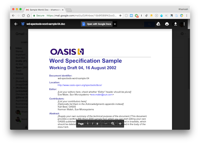 open office documents in chrome 1