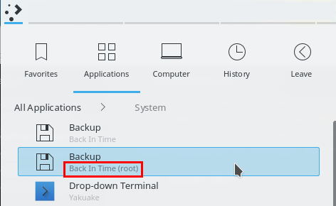 optimize backup backintime as root