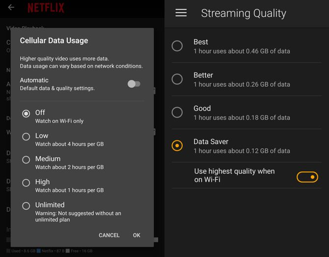 save mobile data video streaming