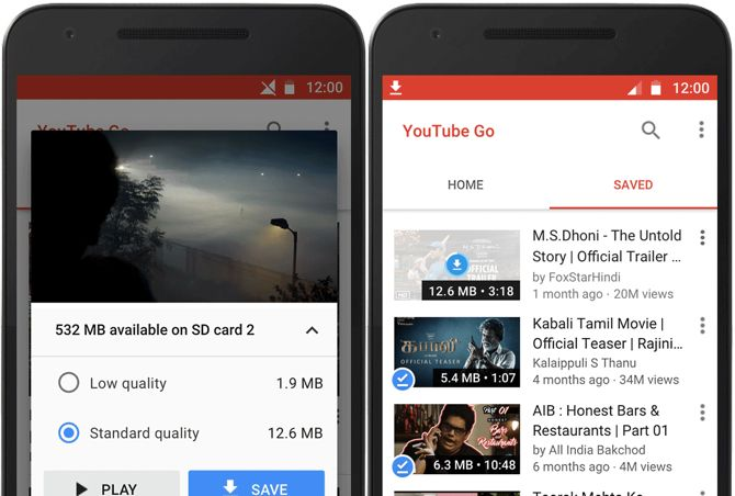 save mobile data youtube go