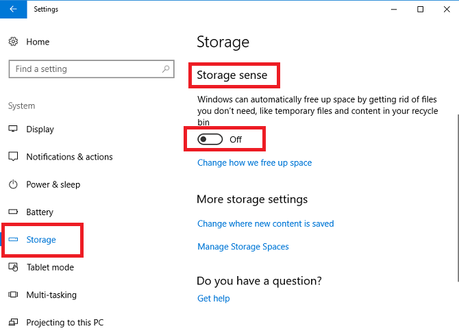 windows 10 settings system storage spaces