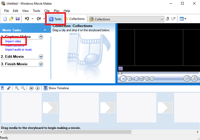 How to Easily Compress Video Files for Web with Movie Maker windows movie maker import video 670x470