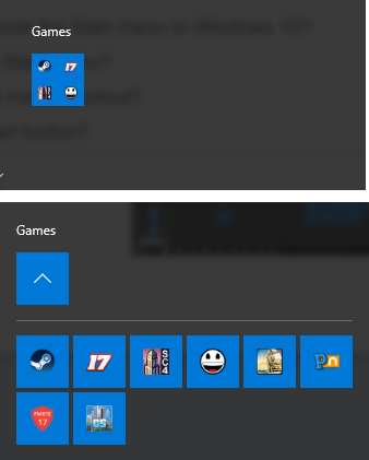 windows start menu games folder
