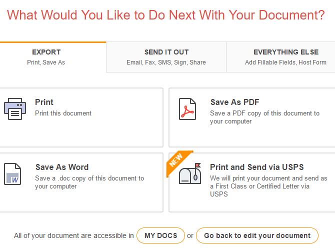 PDFfiller Is the Complete PDF Solution for Editing, Signing, and Filing 04 PDFfiller Export Options