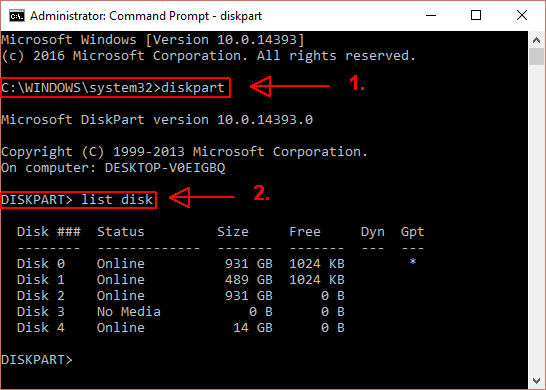 How to Fix Write Protection Errors on a USB Stick Command Prompt Run DiskPart