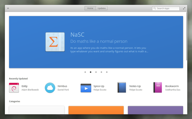elementary os appcenter home