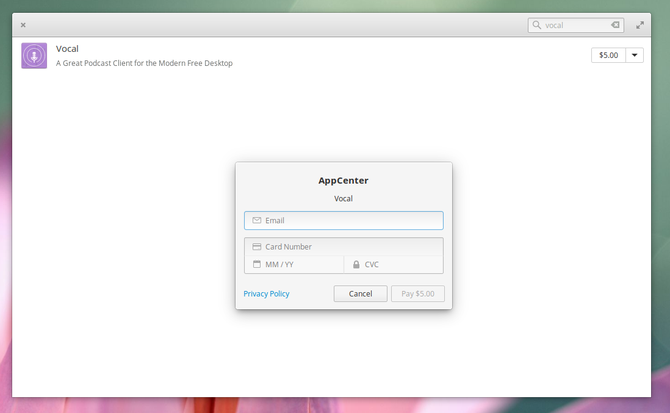 elementary os appcenter payment process
